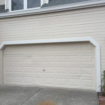 Remodeled framing and trip on garage door