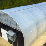 Newly Constructed Greenhouse with Cooling System and Light Deprivation
